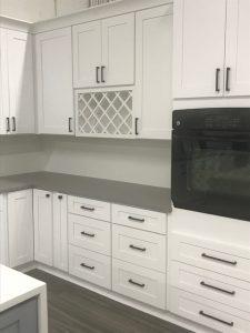 Classic modern white kitchen cabinets